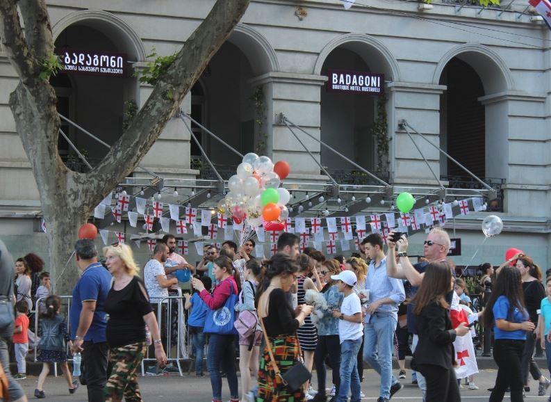 Майские праздники в Тбилиси