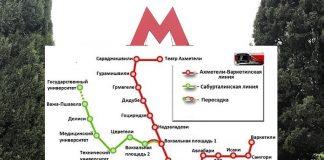 Метро Тбилиси - схема