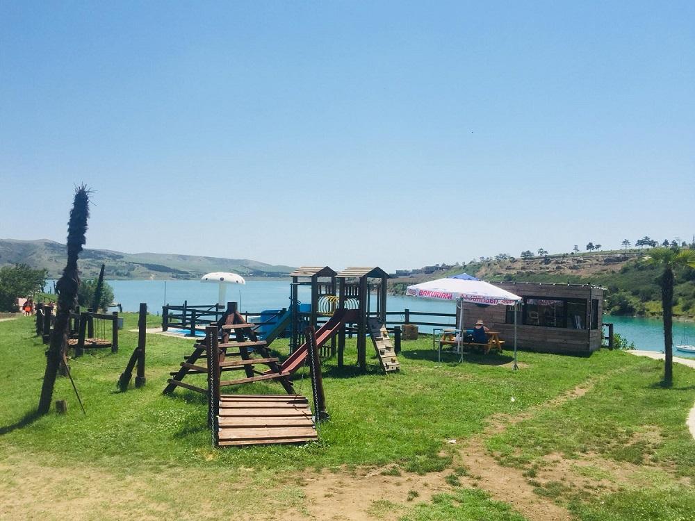 Пляж Тбилисского моря