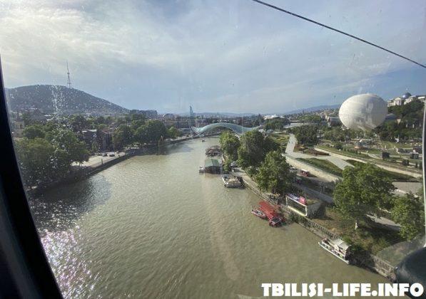 Тбилиси с высоты канатной дороги