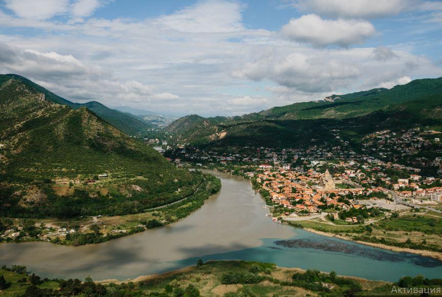 Мцхета, место слияния двух рек