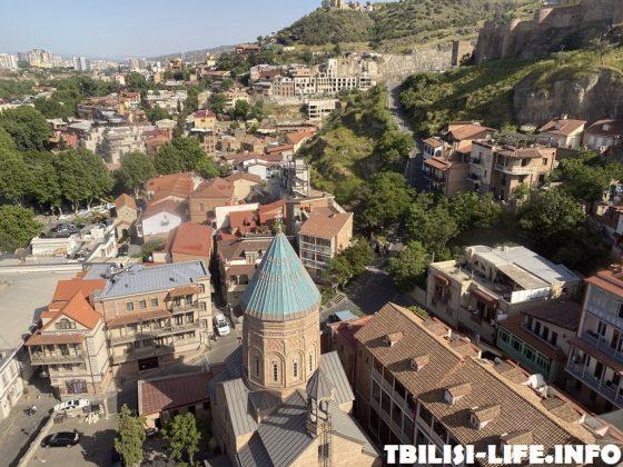 Канатная дорога в Тбилиси Рике - Нарикала