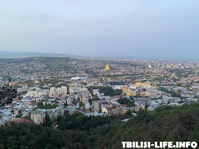 Тбилиси с высоты фуникулера