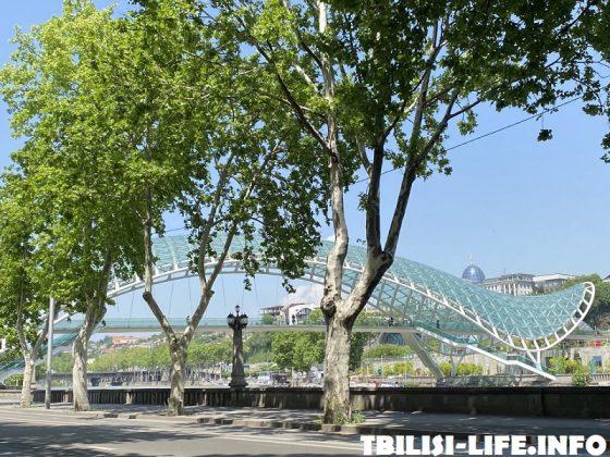 Мост через Куру в Тбилиси